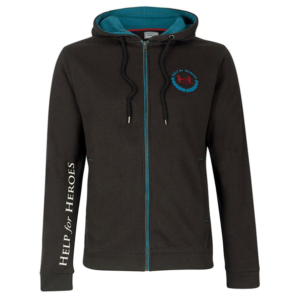 Help for Heroes Black Tornado Zipped Hoody