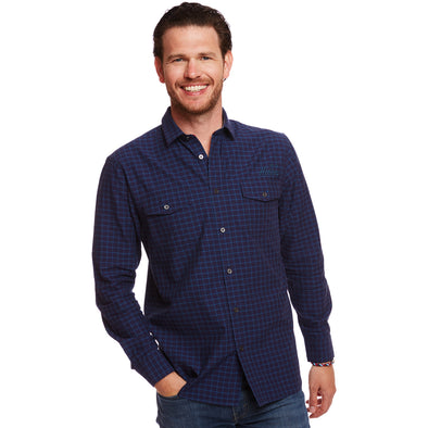 Blue Atlas Check Shirt