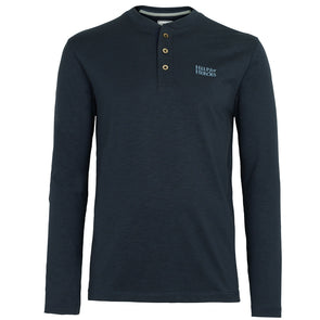Blue Marl Long Sleeve Henley T-shirt