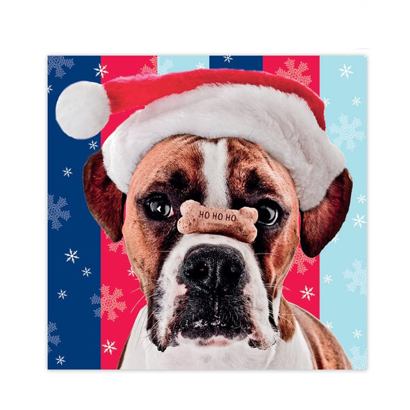 Help for Heroes Boxer with a Bone Christmas Card