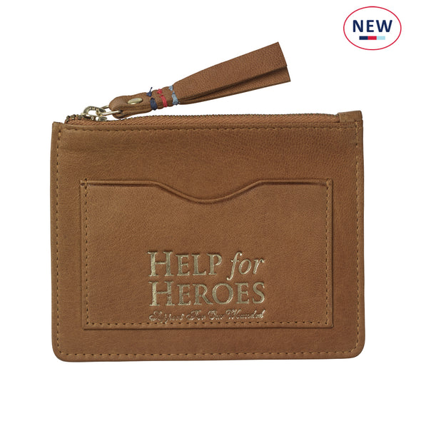 Help for Heroes Brown Leather Coin Purse