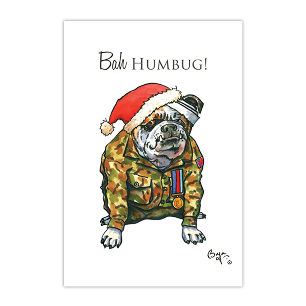 Help for Heroes Bryn Parry Bah Humbug Christmas Card - pack of 10