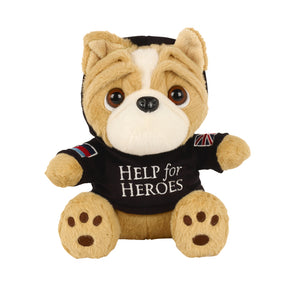 Help for Heroes Bulldog Bear with Black Hoody