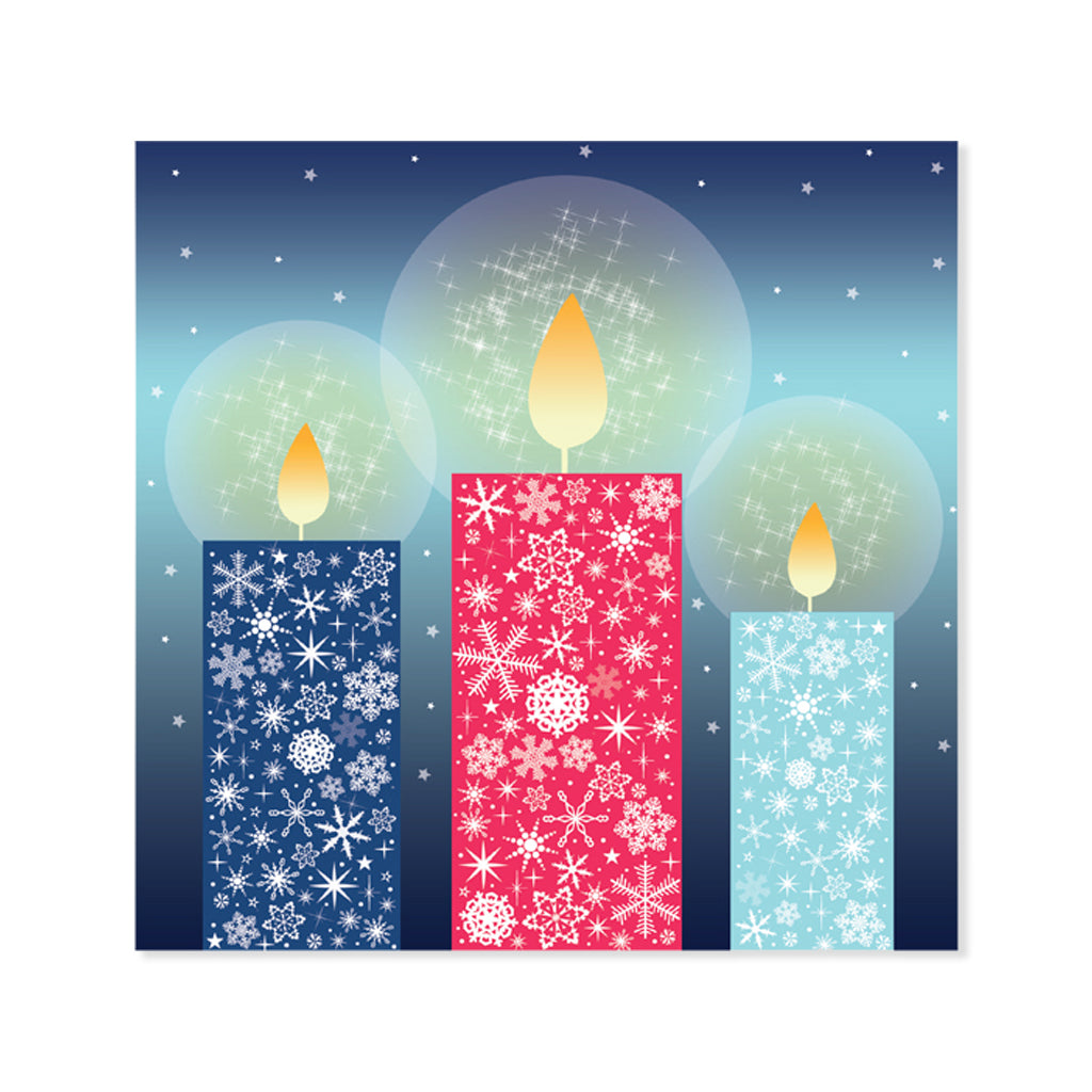 Help for Heroes Three Tri Candles Christmas Card