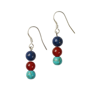 Help for Heroes Chakra Silver Bead Earrings