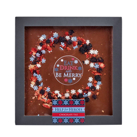 Help for Heroes Chocolate Festive Wreath
