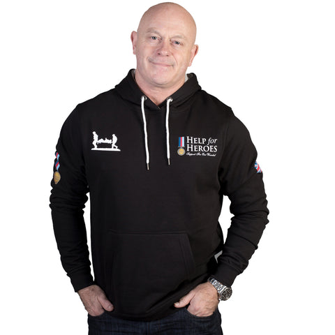 Help for Heroes Classic Black Hoody with Flag