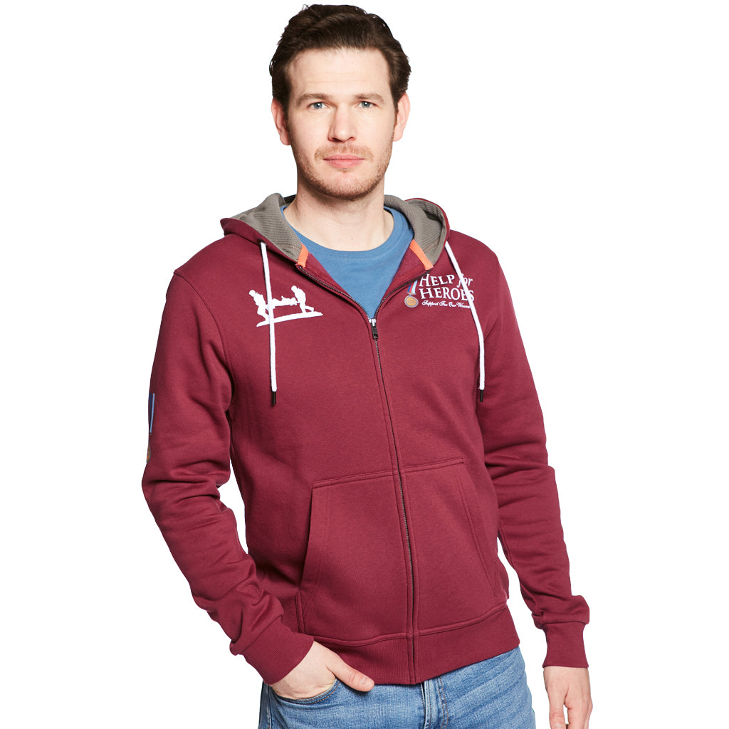 Help for Heroes Classic Burnt Russet Zipped Hoody