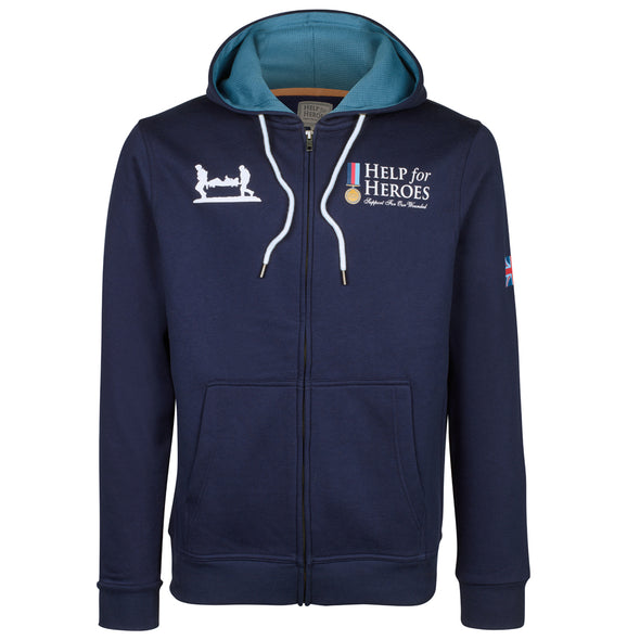 Help for Heroes Classic Peacoat Blue Zipped Hoody
