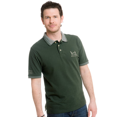 Help for Heroes Clover Green Birdseye Collar Polo