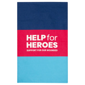 Help for Heroes Tri Colour Block Tea Towel