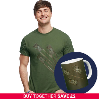 Military Green Comet Tank T-Shirt and Mug Set