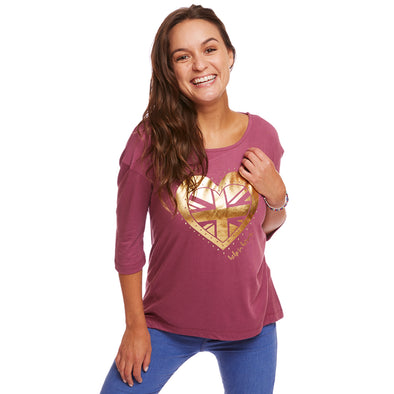 Help for Heroes Damson Copper Heart T-shirt