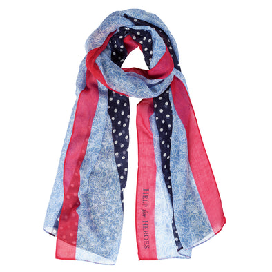 Help for Heroes Tri-stripe Dotty Scarf