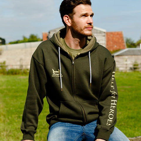 Help for Heroes Duffel Green Catterick Zipped Hoody
