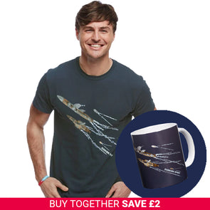 Charcoal Dunkirk Spirit T-Shirt and Mug Set