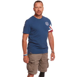 Help for Heroes Ensign Blue Union Jack Sleeve T-shirt