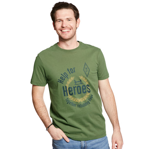 Help for Heroes Green Explorer T-shirt