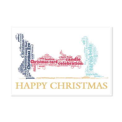 Help for Heroes Festive Text Stretcher Bearer card