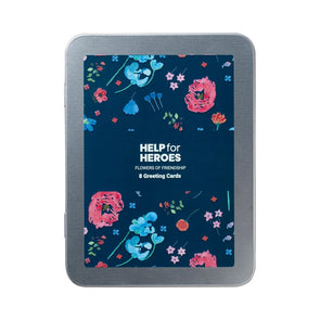 Help for Heroes Flowers of Friendship Notecards - Set of 8