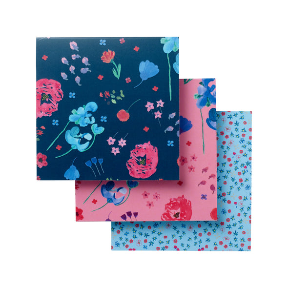 Help for Heroes Flowers of Friendship Notepads - Set of 3