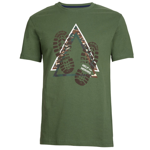Help for Heroes Green Longdon T-shirt