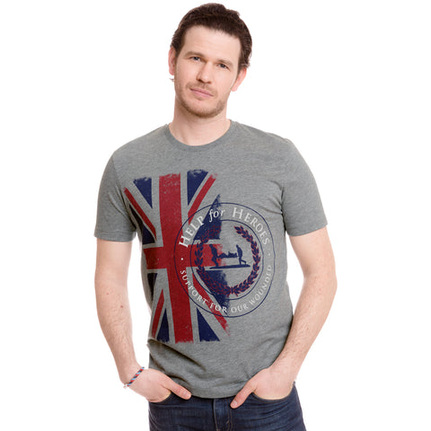 Help for Heroes Grey Marl Challenger T-shirt