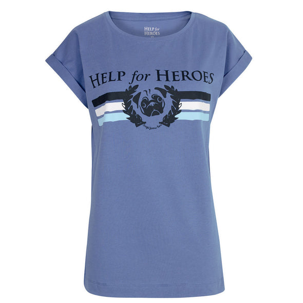 Help for Heroes Heather Blue Sup-Paw-Ter T-Shirt