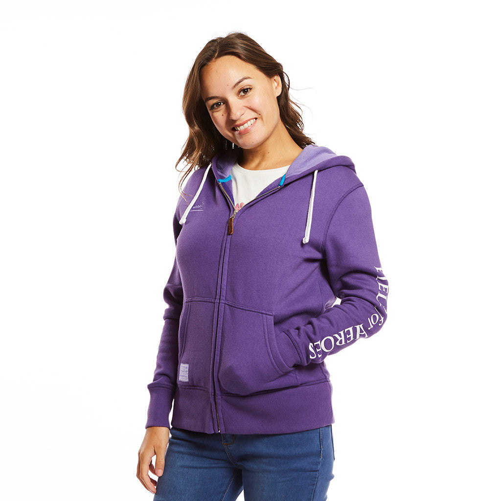 Purple zipped hoody