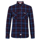 Help for Heroes Long sleeve Plaid Shirt Longford Navy