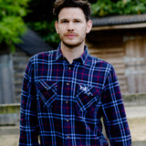 Help for Heroes Navy Long sleeve Plaid Shirt Longford