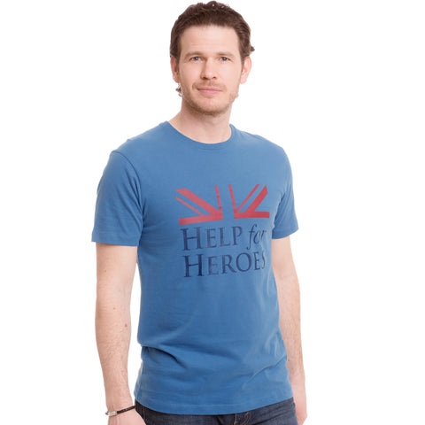 Help for Heroes Moonlight Blue Vigour Brave T-shirt