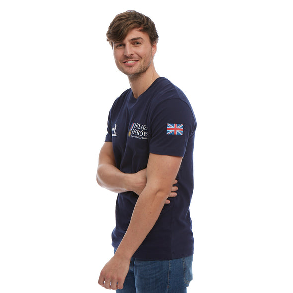 Help for Heroes Navy Classic T-shirt