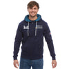 Heritage Navy Zipped Hoody