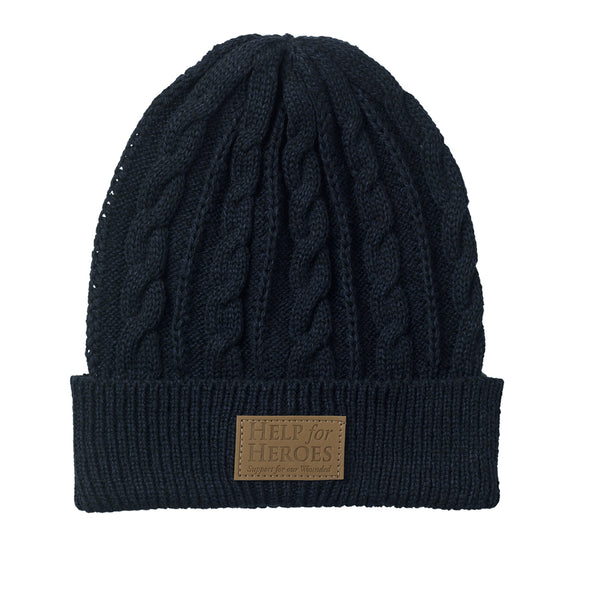Blue Marl Donard Cable Knit Hat