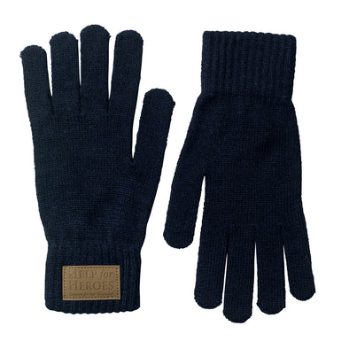 Blue Marl Donard Cable Knit Gloves