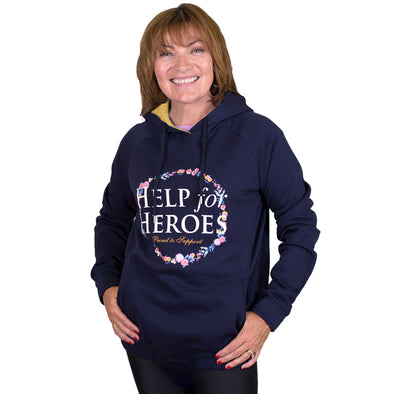 Help for Heroes Navy Floral Rose Hoody