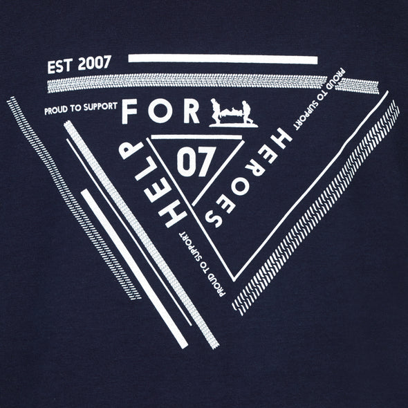 Help for Heroes Navy Geo Print T-shirt