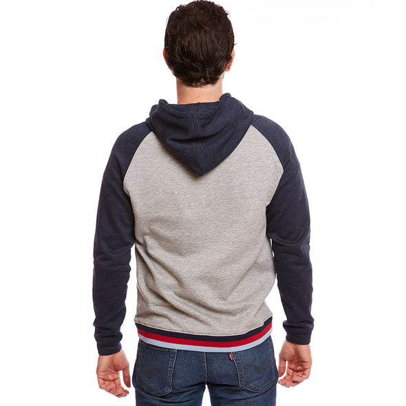 Help for Heroes Grey Marl Oregon Raglan Zipped Hoody