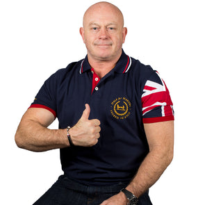 Help for Heroes Navy Neptune Union Jack Sleeve Polo