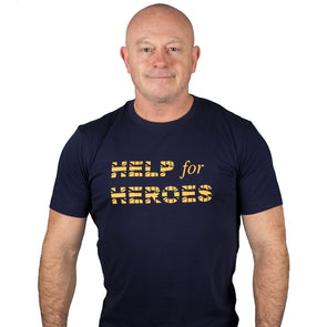 Help for Heroes Navy Union Jack T-shirt