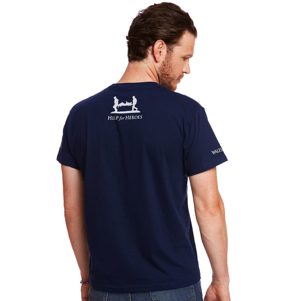 Help for Heroes Navy Welsh Flag T-shirt