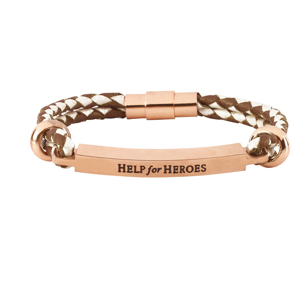 Help for Heroes Pearl and Copper Bracelet