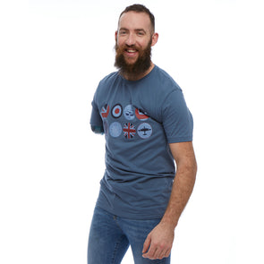 Help for Heroes Steel Blue Pilot Circle T-Shirt