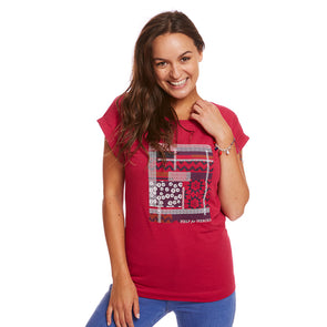 Help for Heroes Fuchsia Maria Pattern T-shirt