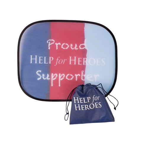Help for Heroes Proud Supporter Car Sunscreen
