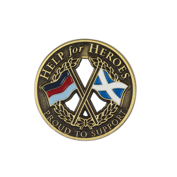 Help for Heroes Scotland Crossed Flags Lapel Pin