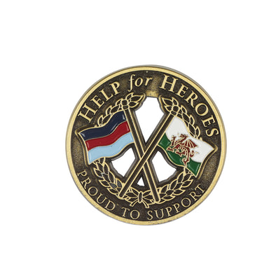 Help for Heroes Wales Crossed Flags Lapel Pin