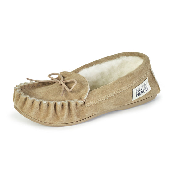 Help for Heroes Natural Sheepskin Slippers