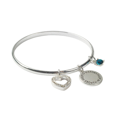Help for Heroes Silver Charms Bangle